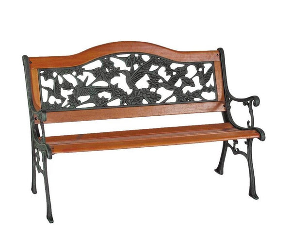Worldwide Sourcing SXL-PB7104-N 9-Slat Hummingbird Park Bench