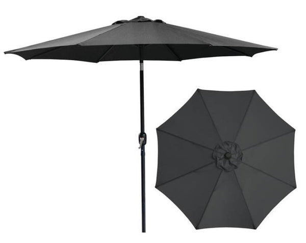 Seasonal Trends 62104 Crank  Market Umbrella, Black, 9'