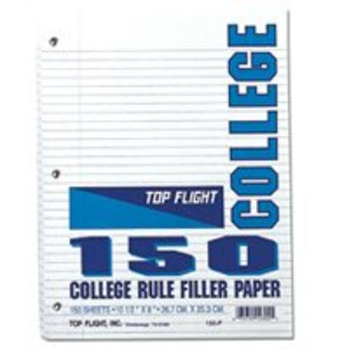 Top Flight 155P College Rule Filler Paper, White