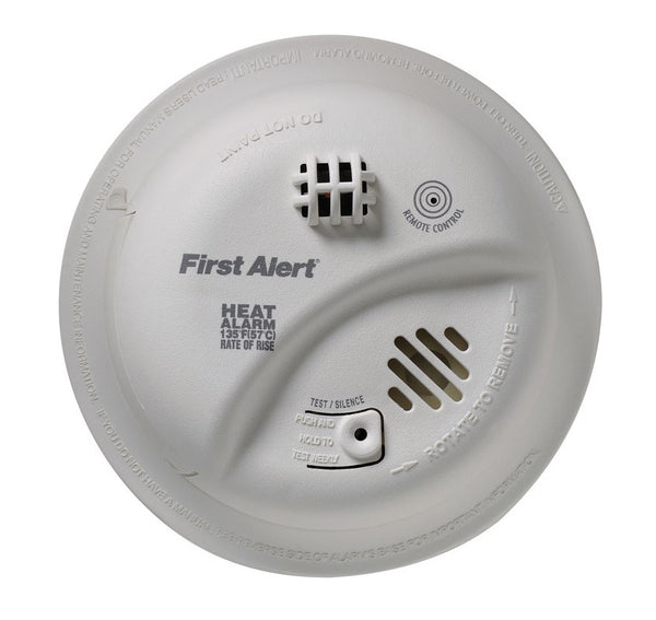 First Alert HD6135FB Hardwire Heat Alarm With Battery Backup