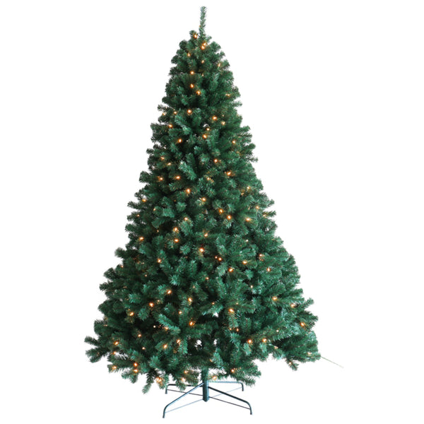 Santas Forest 61990 Prelit Christmas Tree, Clear Light, 9 Ft