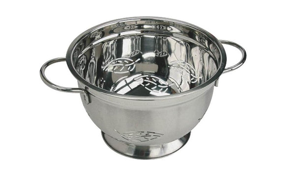 Chef Craft 21600 Leaf Design Colander, Stainless Steel, 5 Qt