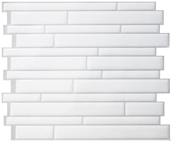 Smart Tiles SM1083-1 Milano Peel & Stick Decorative Wall Tile, Blanco