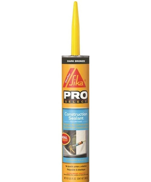 Sikaflex 515310 Non-Staining Construction Sealant, 10.1 Oz, Dark Bronze