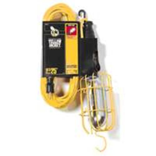 Yellow Jacket 2893 Work Light with Outlet & Metal Guard, 6' 16/3 Cord, 75W
