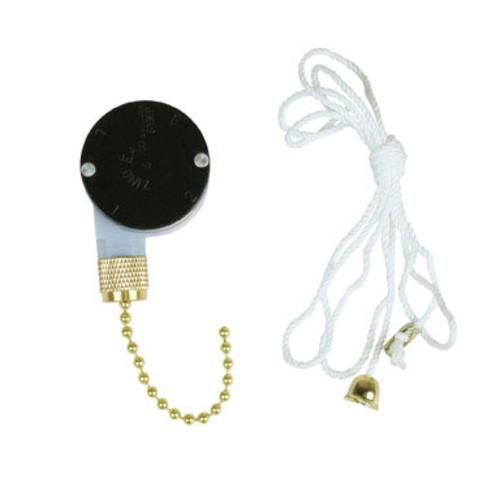 Jandorf 60306 Fan Switch With Pull Chain, 3 Speed