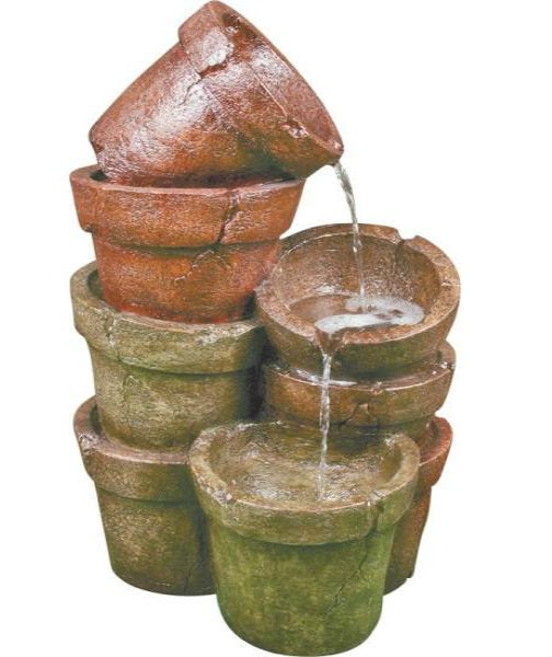 "Worldwide Sourcing Y98726 Loyola Garden Fountain, 18.7""W x 16.34""L x 30.91""H"