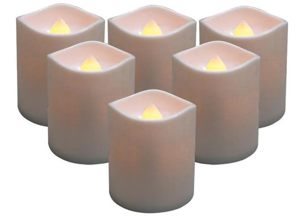Holiday Basix E03407 Battery-Operated LED Votive Candle, Set of 6