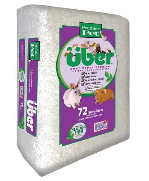 Premier Pet 801000PWUB Soft Paper Pet Bedding, 1000/4400 CU