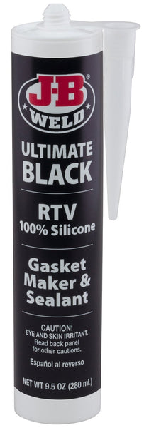 J.B.Weld 32929 Ultimate Black RTV Silicone Gasket Maker and Sealant, 9.5 Oz