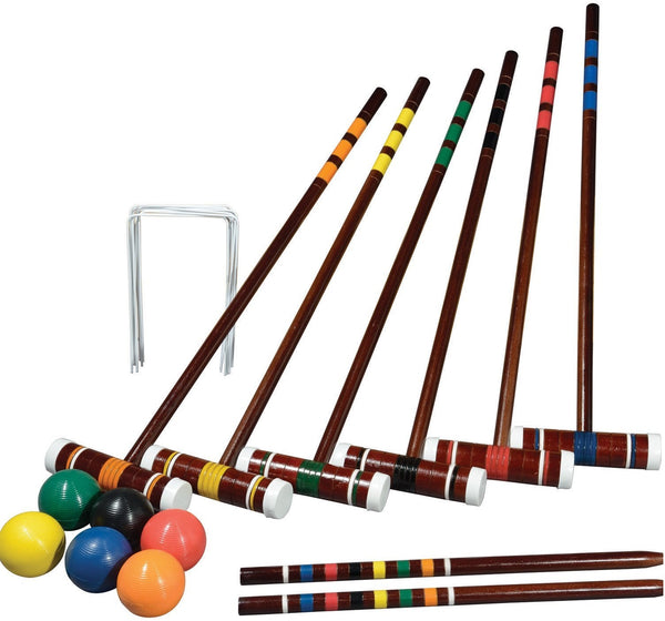 Franklin 50201 Intermediate 6 Player Croquet Set, Ages 8+