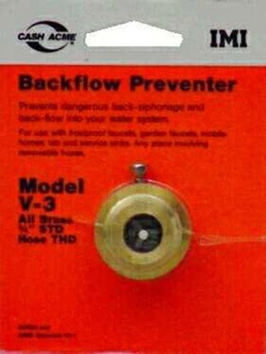 "Cash Acme 17198 V-3 Hose Bibb Atmospheric Back Flow Preventer Brass 3/4"" x 3/4"""