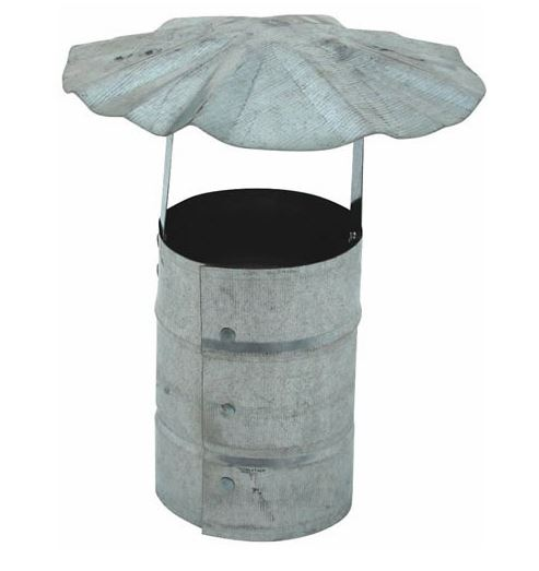 Billy Penn 8100 Galvanized Round Roof Cap, 3""