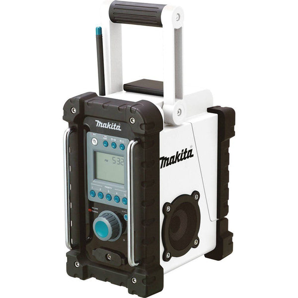 Makita XRM02W Compact Lithium-Ion Cordless Job Site Radio, 18 Volt