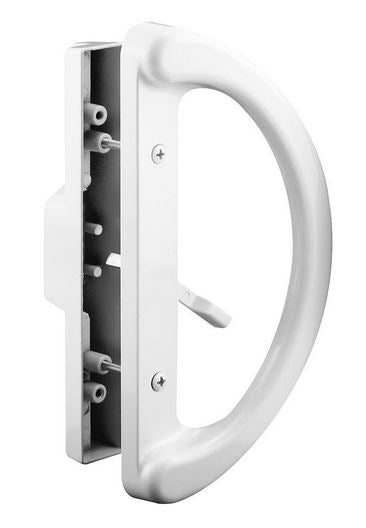 Prime Line C 1225 Sliding Door Handle, Mortise Style, White