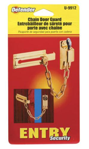 Prime Line U9912 Keyed Chain Door Guard, Brite Brass