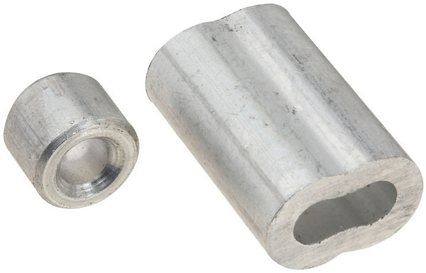 National Hardware N830-354 Ferrule and Stop, Aluminum, 3/16""