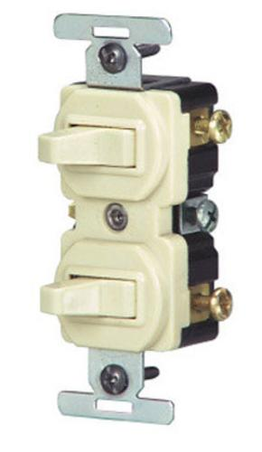 Leviton S01-05243-0IS 3-Way Combination Switch, 15amp