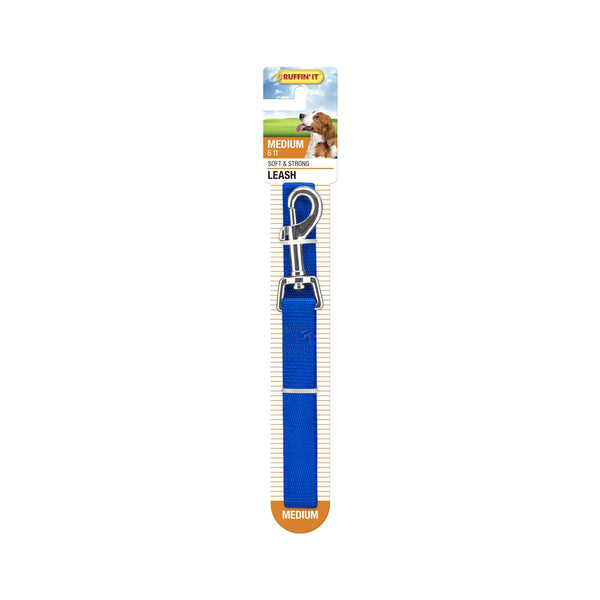 Westminster Pet 7N31066 Ruffin' It Dog/Puppy Leash, Nylon, Blue