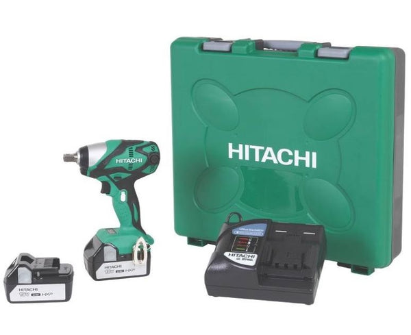 Hitachi WR18DSDL Cordless Lithium-Ion Impact Wrench Kit, 18 Volt