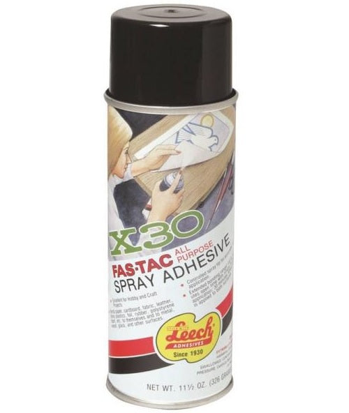 Leech LFT-125 Fas-Tac All Purpose Spray Adhesive, 11.5 Oz