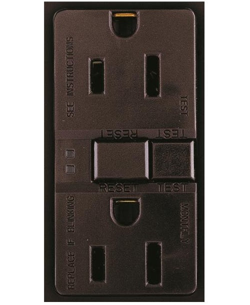 Arrow Hart SGF15B Self-Test GFCI Receptacle, 15 Amp, Brown
