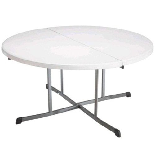 Lifetime 5402 Round Folding Table 5', White