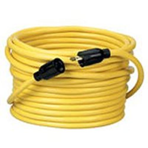 Coleman 090288802 Twist-To-Lock Extension Cord 50', Yellow