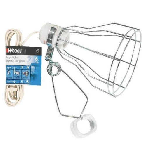 Woods 0324 Brooder and Heat Clamp Light, 150 Watts, 125 Volt