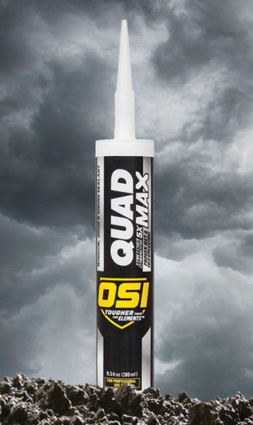 OSI Quad Max 1869361 Window, Door & Siding Sealant, Clay 335, 9.5 Oz