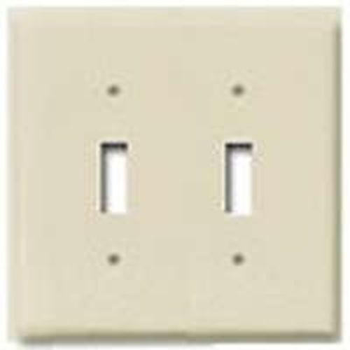 Cooper Wiring PJ2A 2G Toggle Plate - Almond