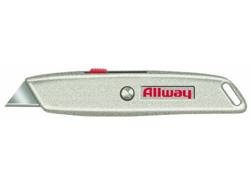 Allway Tools RK4 Retractable Utility Knife With 3 Blades & Delrin Slider