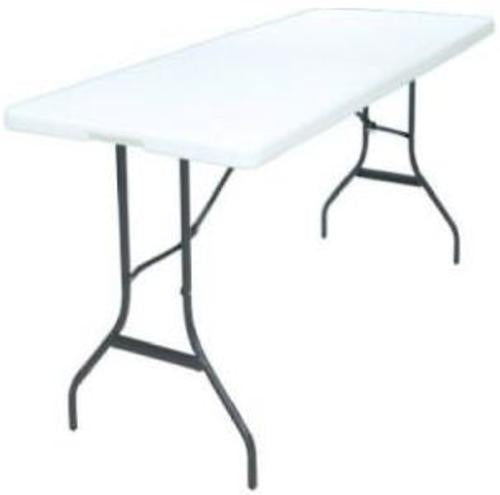 Homebasix TBL-072 Portable Folding Table 6',  White