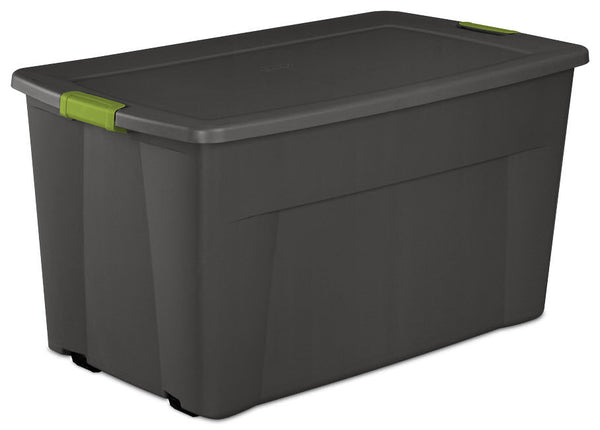 Sterilite 19483V04 Wheeled Latch Tote Box, 45 Gallon