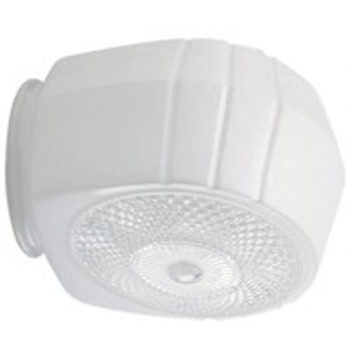 Westinghouse 8560400 White Groove with Clear Bottom Glass Shade, 3-1/4""