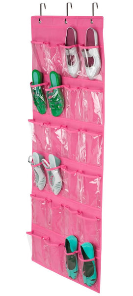 Honey-Can-Don SFT-01642 24-Pocket Over-The-Door Closet Organizer, Pink