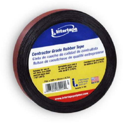 "Intertape 5517 Rubber Electrical Tape, 3/4"" x 22'"
