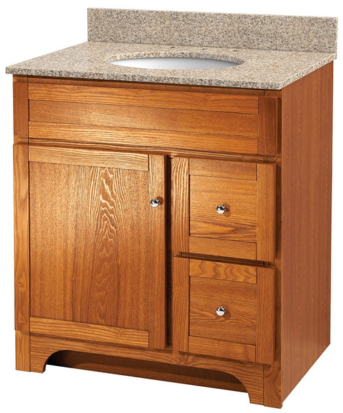Foremost WROA3021D Worthington Bathroom Vanity, Oak