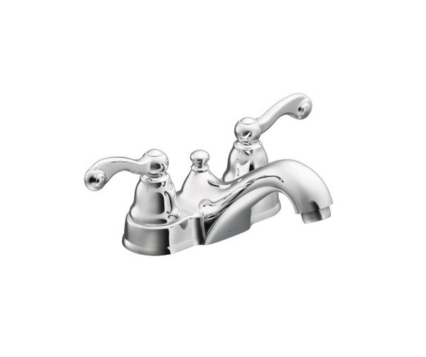 Moen WS84002 Traditional Two-Handle Low-Arc Bathroom Faucet, 1.2 GPM