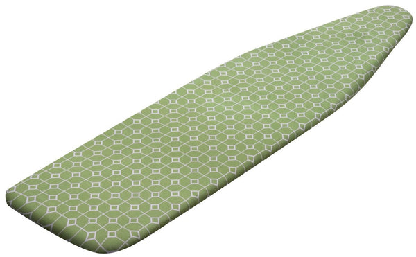 Honey-Can-Do IBC-03035 Premium Ironing Board Cover, Green Geometric