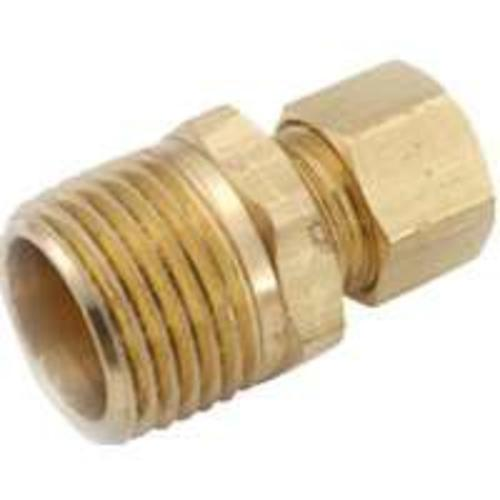 "Anderson Metals 750068-0812 Brass Compression Fitting Connector, 1/2"" x 3/4"""