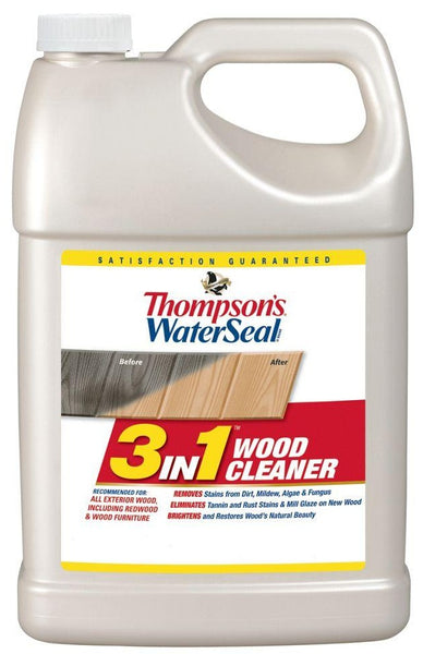 Thompson's WaterSeal TH.074871-16 3 in 1 Wood Cleaner, 1 Gallon
