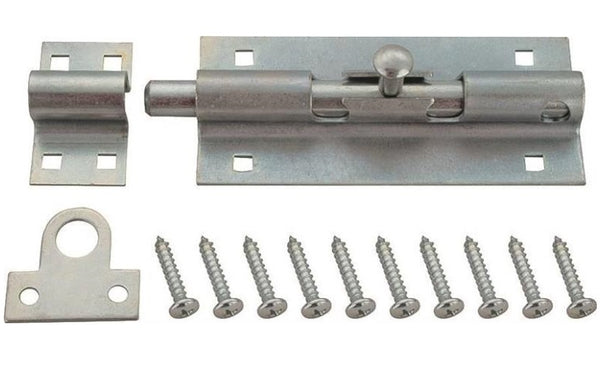 "Prosource 33306ZCX-PS Heavy-Duty Barrel Bolt, 7-1/2"", Zinc Plated"