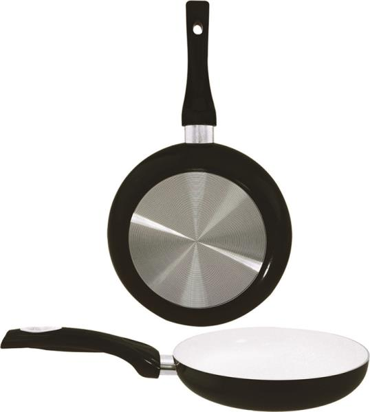 Dura-Kleen 8120-BK Ceramic Fry Pan, Black, 8""