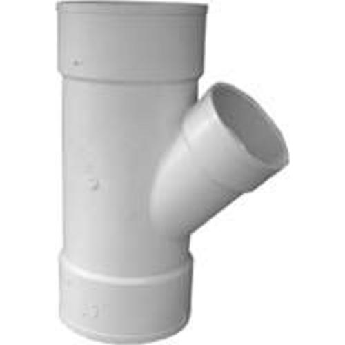 "Genova 41064 PVC 45-Degree Sewer & Drain Pipe Reducing Wye, 6"" x 6"" x 4"""