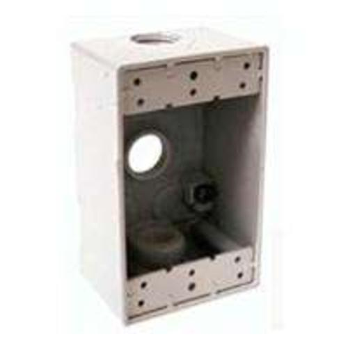Bell 5321-1 Outlet Boxes, Aluminum, 4-1/2""