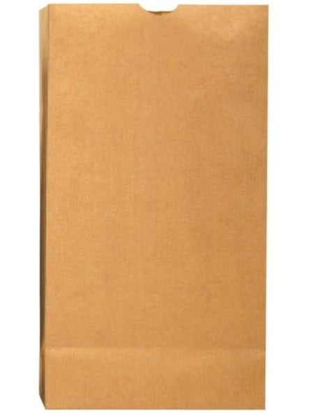 R3 18402 Grocery Kraft Paper Bag, Plain, Brown, 500/Bundle