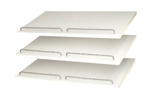 "Easy Track RS1600 Shoe Shelves 24"", White"