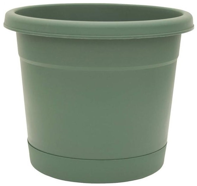 Southern Patio RR1606FE Rolled Rim Planter with Saucer, Fern, 17.5""
