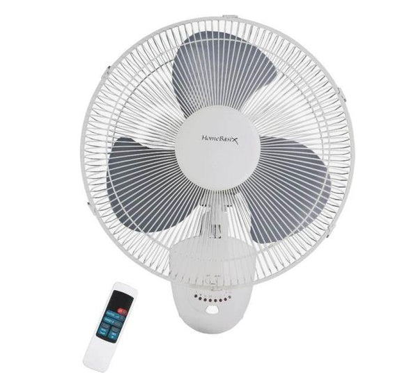 PowerZone FW40-S1 Oscillating Wall Fan with Remote, 3-Speed, 16""